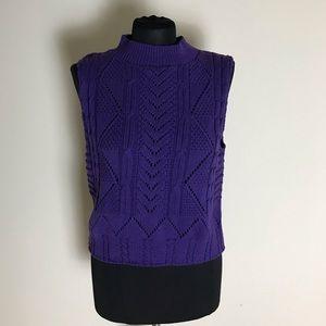 Vintage Purple Sleeveless Sweater